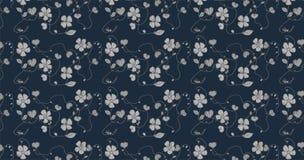 Modèle sans couture avec l'ornement gris de fleur Photo stock