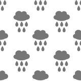 Modèle sans couture avec la baisse de nuage et d'eau Photographie stock libre de droits