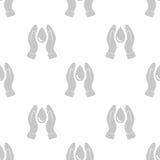 Modèle sans couture avec la baisse et la main de l'eau Photographie stock libre de droits