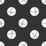 Modèle sans couture avec la boule Photographie stock