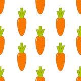Modèle sans couture avec la carotte sur le fond blanc Photographie stock libre de droits