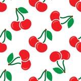 Modèle sans couture avec la cerise rouge illustration libre de droits
