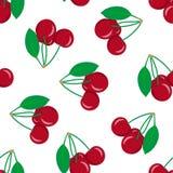 Modèle sans couture avec la cerise rouge illustration de vecteur