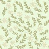 Modèle sans couture avec la conception florale illustration libre de droits
