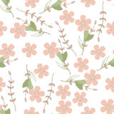 Modèle sans couture avec la conception florale illustration de vecteur