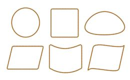 Modèle sans couture avec la corde illustration stock