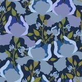 Modèle sans couture avec la fleur d'iris Copie colorée de textile Photo stock