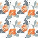 Modèle sans couture avec la fleur de pomme Kaléidoscope rond des fleurs et des éléments floraux Photographie stock libre de droits