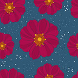 Modèle sans couture avec la fleur rare Image libre de droits