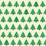 Modèle sans couture avec la forêt d'arbre de Noël de pixel illustration stock