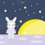 Modèle sans couture avec la lune et les étoiles dedans Fond mignon d'aspiration de main Photographie stock libre de droits