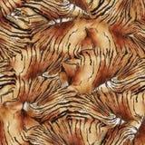 Modèle sans couture avec la peau du tigre images stock