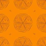 Modèle sans couture avec la pizza Photo stock