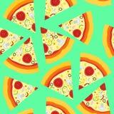 Modèle sans couture avec la pizza italienne Image stock