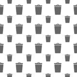 Modèle sans couture avec la poubelle Images stock