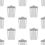 Modèle sans couture avec la poubelle Image libre de droits