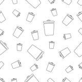 Modèle sans couture avec la poubelle Photo stock