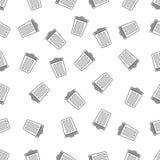 Modèle sans couture avec la poubelle Photographie stock libre de droits