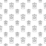 Modèle sans couture avec la poubelle Photos stock