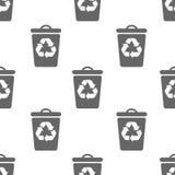 Modèle sans couture avec la poubelle Image stock