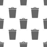 Modèle sans couture avec la poubelle Photos libres de droits
