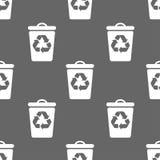 Modèle sans couture avec la poubelle Images libres de droits