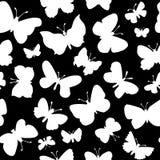 Modèle sans couture avec la silhouette de papillons illustration de vecteur