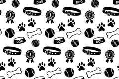 Modèle sans couture avec la substance du chien Photos stock