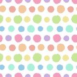 Modèle sans couture avec la texture peinte de point de polka Photographie stock libre de droits