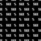 Modèle sans couture avec la vente et les pour cent de textes Fond de vente de Black Friday illustration de vecteur