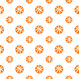 Modèle sans couture avec le basket-ball Photo libre de droits