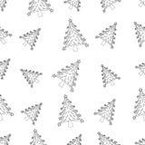 Modèle sans couture avec le bonhomme de neige de Noël Photos libres de droits
