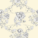 Modèle sans couture avec le bouquet des fleurs Photos stock