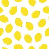 Modèle sans couture avec le citron illustration libre de droits
