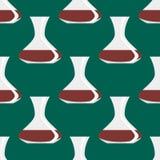 Modèle sans couture avec le classique décoratif de conception de pot de fond antique de vases Photos libres de droits
