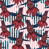 Modèle sans couture avec le colibri et illustration libre de droits