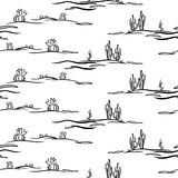 Modèle sans couture avec le désert stylisé illustration de vecteur