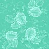 Modèle sans couture avec le dessin des tulipes dans la couleur violette Les bonnes FO Photo libre de droits