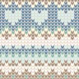 Modèle sans couture avec le filigrane de tricotage d'hiver doux Photo stock