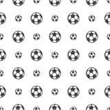 Modèle sans couture avec le football Image libre de droits