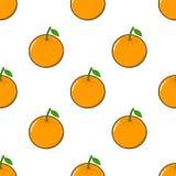 Modèle sans couture avec le fruit orange Images libres de droits