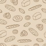 Modèle sans couture avec le genre différent de pain illustration de vecteur