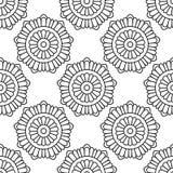 Modèle sans couture avec le modèle floral abstrait sur le blanc Image stock