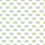 Modèle sans couture avec le mot tiré par la main Rio avec coloré, isolat illustration stock