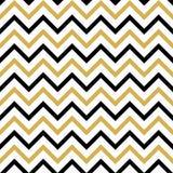 Modèle sans couture avec le noir et le zigzag d'or illustration de vecteur