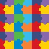 Modèle sans couture avec le puzzle Images libres de droits