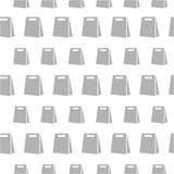 Modèle sans couture avec le sac Image libre de droits