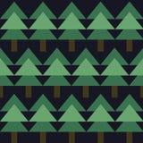 Modèle sans couture avec le sapin vert Photo libre de droits