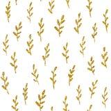 Modèle sans couture avec le scintillement d'or illustration de vecteur