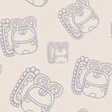 Modèle sans couture avec le symbole de Maya Night Lord Photographie stock